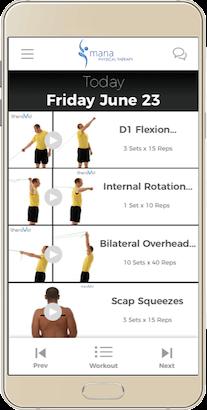 Mana PT StriveHub Virtual Home Exercise Program